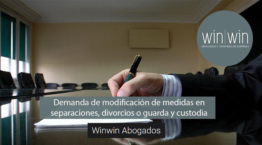 Demanda de modificación de medidas en separaciones, divorcios o guarda y custodia en Valladolid